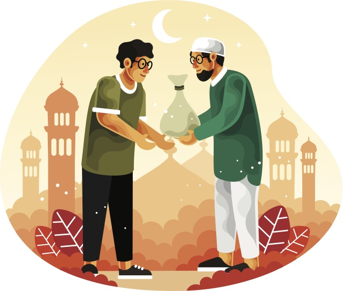 Muslims-give-alms-or-zakat-in-the-month-of-Ramadan