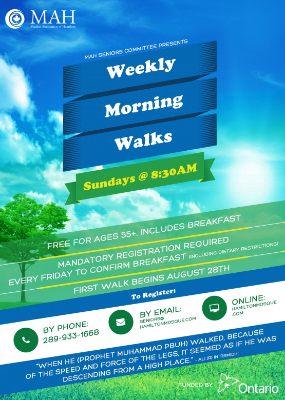 Weekly Morning Walks for Seniors