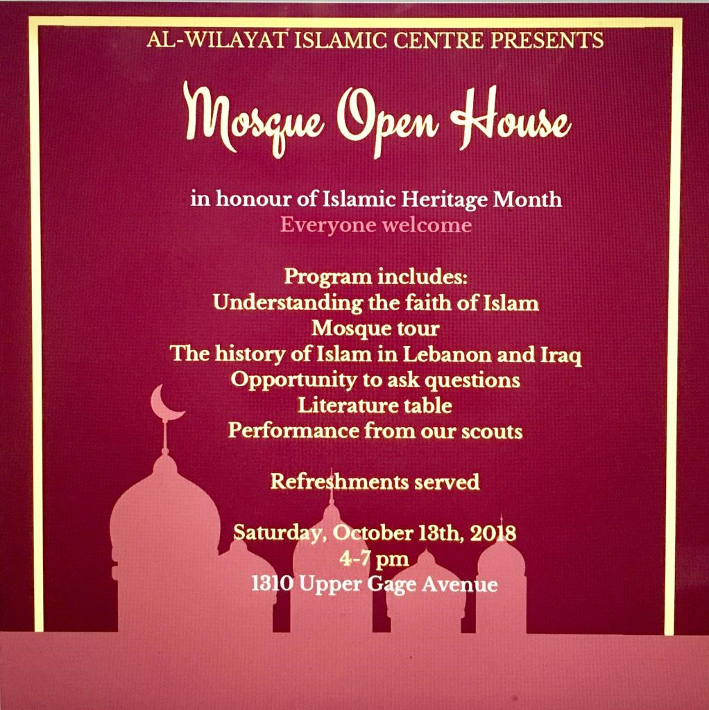 Al-Wilayat Open House - Oct 13